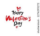 happy valentine's day modern... | Shutterstock .eps vector #1276295272