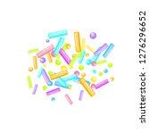 sprinkles grainy. sweet... | Shutterstock .eps vector #1276296652