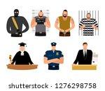 justice people  prisoner and... | Shutterstock .eps vector #1276298758