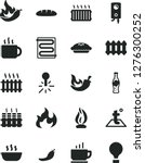 solid black vector icon set  ... | Shutterstock .eps vector #1276300252