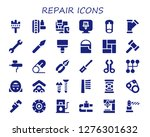 repair icon set. 30 filled...   Shutterstock .eps vector #1276301632