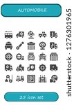 automobile icon set. 25 filled ...   Shutterstock .eps vector #1276301965