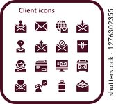 client icon set. 16 filled... | Shutterstock .eps vector #1276302355