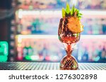 metal glasses of fresh summer... | Shutterstock . vector #1276302898