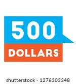 five hundred dollars...   Shutterstock .eps vector #1276303348