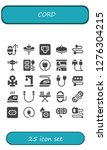 cord icon set. 25 filled cord... | Shutterstock .eps vector #1276304215