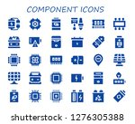 component icon set. 30 filled... | Shutterstock .eps vector #1276305388