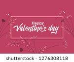 vector illustration of flowers... | Shutterstock .eps vector #1276308118