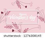 vector illustration of flowers... | Shutterstock .eps vector #1276308145