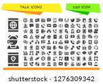 talk icon set. 120 filled talk ... | Shutterstock .eps vector #1276309342