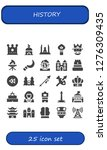 history icon set. 25 filled... | Shutterstock .eps vector #1276309435