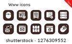 www icon set. 10 filled www...   Shutterstock .eps vector #1276309552