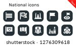 national icon set. 10 filled... | Shutterstock .eps vector #1276309618