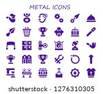 metal icon set. 30 filled... | Shutterstock .eps vector #1276310305