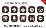 embroidery icon set. 10 filled ... | Shutterstock .eps vector #1276310812