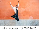 young black man wearing casual... | Shutterstock . vector #1276311652