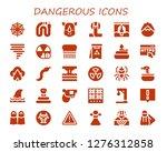 dangerous icon set. 30 filled... | Shutterstock .eps vector #1276312858