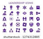 leadership icon set. 30 filled ... | Shutterstock .eps vector #1276312885