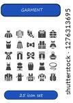 garment icon set. 25 filled... | Shutterstock .eps vector #1276313695
