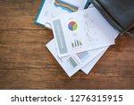 business report chart preparing ... | Shutterstock . vector #1276315915