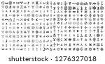 large set of alchemical symbols ... | Shutterstock .eps vector #1276327018