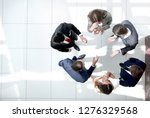 top view. the business team is... | Shutterstock . vector #1276329568