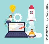 startup  programmer  business... | Shutterstock .eps vector #1276332082