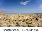 sandy beach with pebbles  low... | Shutterstock . vector #1276334458