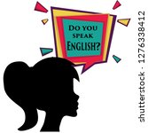 you speak english. silhouettes... | Shutterstock . vector #1276338412