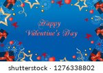 beautiful card with cute angels ... | Shutterstock .eps vector #1276338802