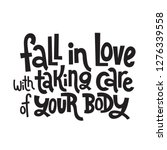 fall in love with taking care... | Shutterstock .eps vector #1276339558