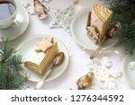 homemade honey cake with sour... | Shutterstock . vector #1276344592