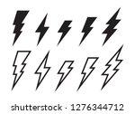 lighting strike simple vector... | Shutterstock .eps vector #1276344712