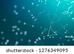 abstract polygonal space low... | Shutterstock . vector #1276349095
