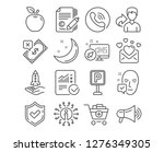 set of love mail  rejected... | Shutterstock .eps vector #1276349305