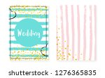 bridal shower card with dots... | Shutterstock .eps vector #1276365835