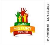 black history month vector... | Shutterstock .eps vector #1276381888