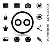emoji icon. simple glyph vector ...