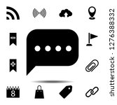 message icon. simple glyph...