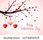 valentine tree with heart... | Shutterstock . vector #1276402525