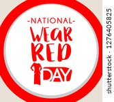 national wear red day vector... | Shutterstock .eps vector #1276405825
