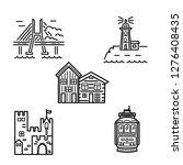 city symbols vector set with... | Shutterstock .eps vector #1276408435
