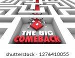 the big comeback return victory ...   Shutterstock . vector #1276410055