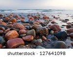 Stony Beach After Sunset