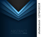 blue triangle vector background ... | Shutterstock .eps vector #1276418218