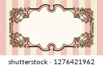 antique  barrack style frames ... | Shutterstock .eps vector #1276421962