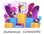 employees with laptops learning ... | Shutterstock .eps vector #1276423492