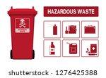 set of hazardous waste icon on...   Shutterstock .eps vector #1276425388