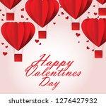 happy valentine day | Shutterstock .eps vector #1276427932