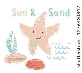 starfish baby cute print. sweet ... | Shutterstock .eps vector #1276430842